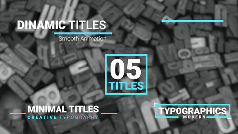 Dynamic Titles Motion Graphics Template