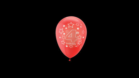 Birthday Celebrations - Balloons With Birthday Numbers 4 Live Action