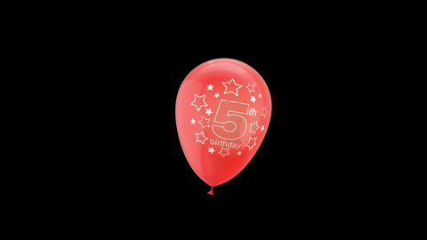 Birthday Celebrations - Balloons With Birthday Numbers 5 Live Action