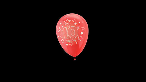 Birthday Celebrations - Balloons With Birthday Numbers 10 Live Action
