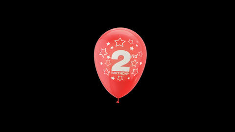 Birthday Celebrations - Balloons With Birthday Numbers 12 Live Action