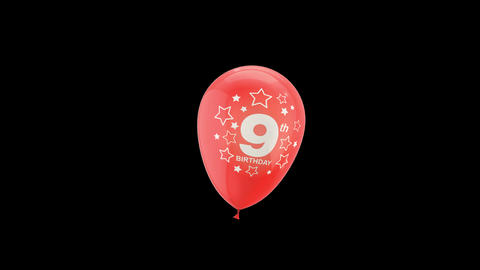 Birthday Celebrations - Balloons With Birthday Numbers 19 Live Action
