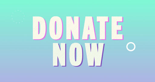 Donate now Logotype. Smooth Text Animation Animation