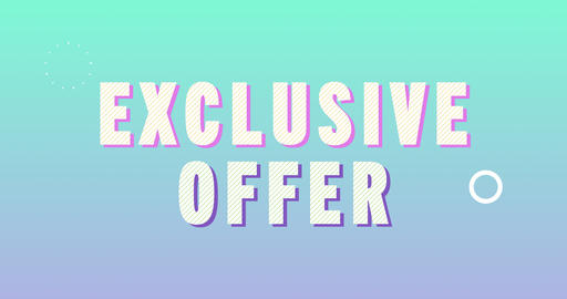Exclusive offer Logotype. Smooth Text Animation Animation