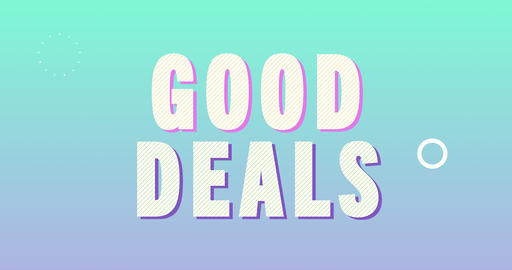 Good deals Logotype. Smooth Text Animation Animation