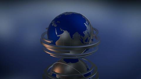 Blue Globe 3D Loop CG動画