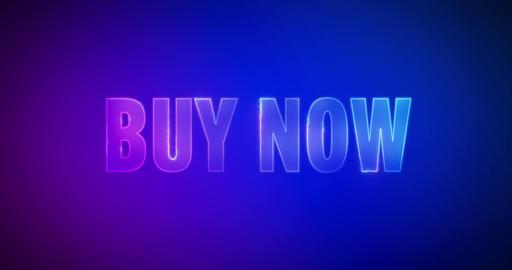 Buy now. Electric lightning words. Logotype Animation