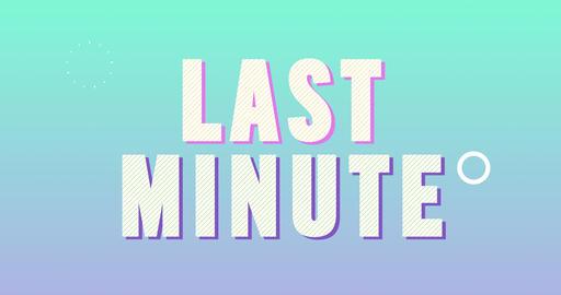Last Minute Logotype. Smooth Text Animation Animation
