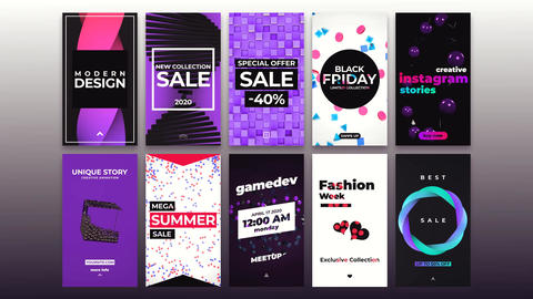 Creative Stories And Backgrounds After Effects Template