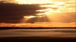 Morning mist over Kushiro Marsh from Kushiro Satellite Observatory in Hokkaido Footage