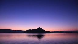 Dawn at Lake Toya, Hokkaido, Japan Footage