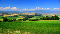 View of blue sky over the French countryside, France, Europe Footage