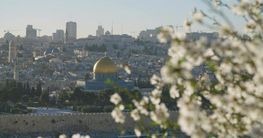A view of the temple mount in old city Jerusalem