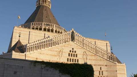 The basilica of annunciation, Nazareth Footage
