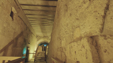 The Western Wall tunnels in old city of Jerusalem Footage
