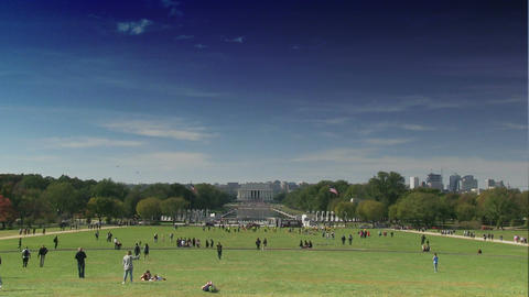 Time lapse of The Lincoln Memorial on the National Mall in Washington, DC Footage