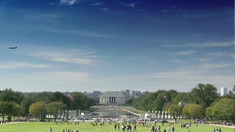 The Lincoln Memorial on the National Mall in Washington, DC Footage