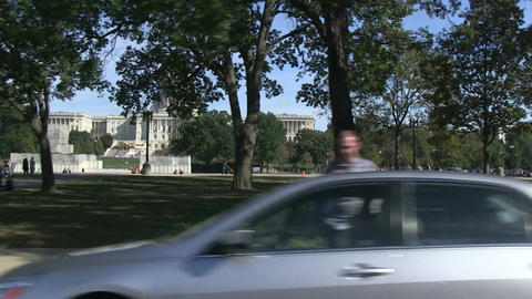 Driving past the US Capitol in Washington, DC Footage