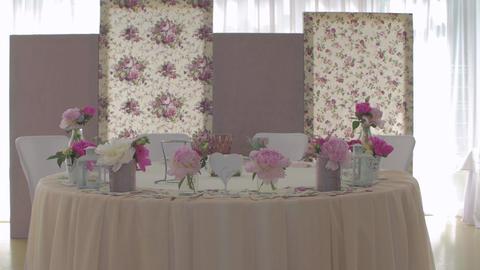 Wedding Table With Floristics GIF