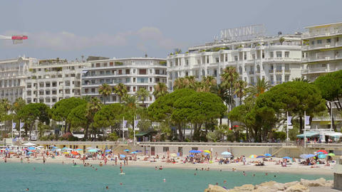 The famous Croisette in the city of Cannes in France - CITY OF CANNES, FRANCE - Live Action