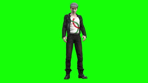 814 4K HEALTH 3D computer generated young MAN walking drunk Animation