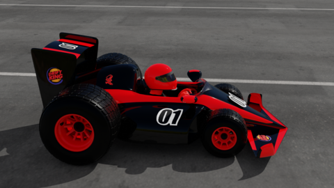 Junior Racing Car Modelo 3D