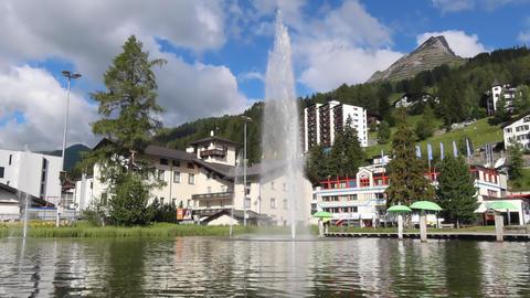 Davos in Switzerland - known for World Economic Forum Acción en vivo