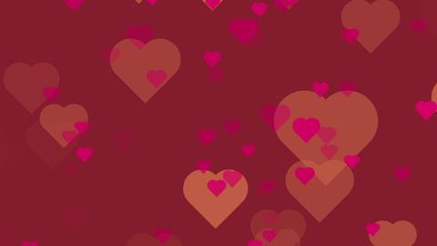 パーティクル ハート バレンタインカラー ループ GIF