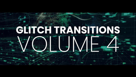 Glitch Transitions Vol4 After Effectsアニメーションプリセット