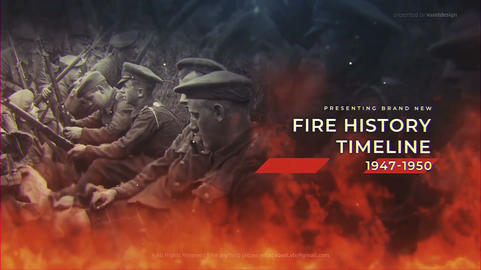Fire History Timeline After Effects Template