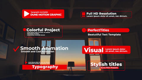 Typographic And Stylish Titles Motion Graphics Template