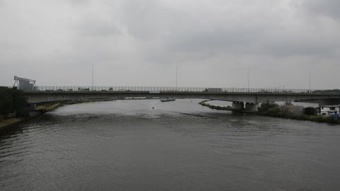 Dark Weather At The Zeeburgerbrug Bridge At Amsterdam The Netherlands 2019 Acción en vivo
