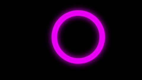 Blue purple neon glowing circles abstract motion background Animation