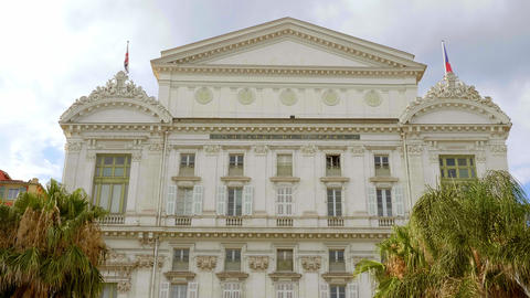 Opera of Nice at the Cote D Azur - CITY OF NICE, FRANCE - JULY 10, 2020 Live Action