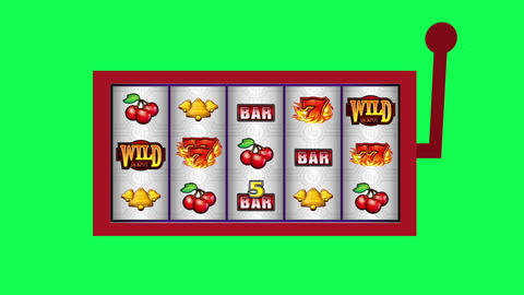 Slot machine winning animation on green screen Animation