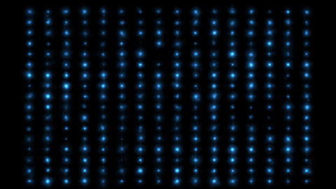 Animation of flashing blue light bulbs on led wall or projectors for stage lights Animation
