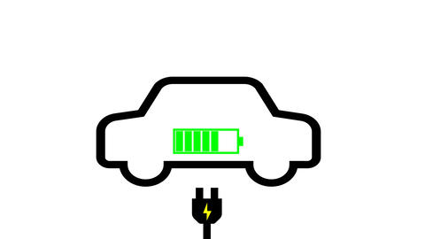 Charging car battery motion animation,electric energy transportation concept Live Action