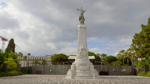 Centenary Monument in the city of Nice - CITY OF NICE, FRANCE - JULY 10, 2020 Live Action