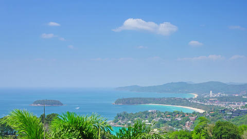 Kata and Karon beaches, Phuket, Thailand Footage