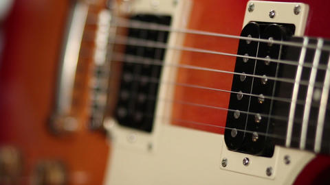 Tone knobs and volume of electric guitar Footage