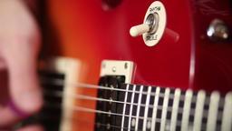 Electric guitar switch for choosing treble rhythm Footage