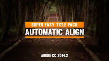 Auto Resize Simple Title Pack V1 After Effects Project