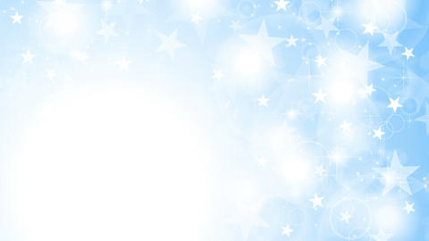 Blue shiny sparkling stars animated background Animation