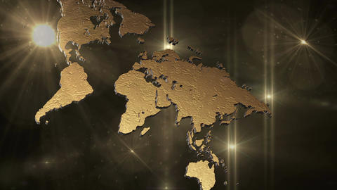 World map in space Animation