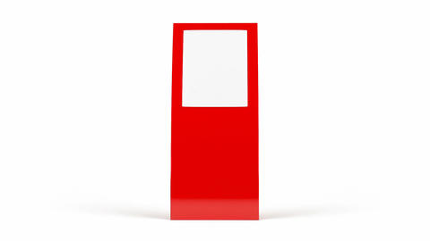 Red curved advertising panel Animation