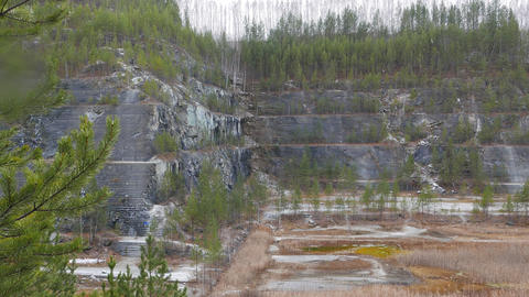 Steps quarry. Russia Footage