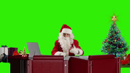 Santa Claus talking, Green Screen Footage
