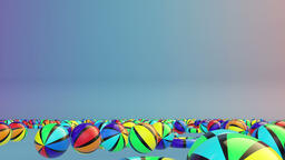 Colorful Summer Objects Falling, Alpha Animation