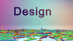 Colorful Crayons and Design text, Alpha Animation