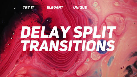 Delay Split Transitions Plantillas de Premiere Pro